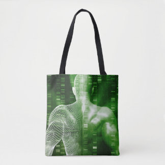 DNA Sequencing or Sequence as a Science Abstract Tote Bag