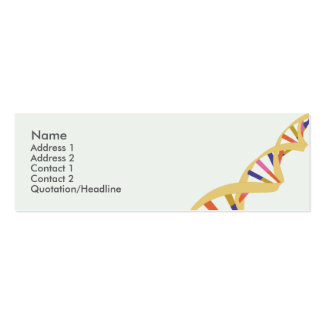 DNA - Skinny Business Card Templates