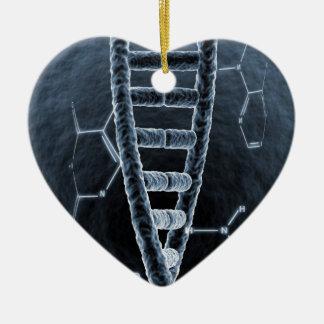 DNA strand Ceramic Ornament