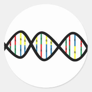 DNA Strand Classic Round Sticker