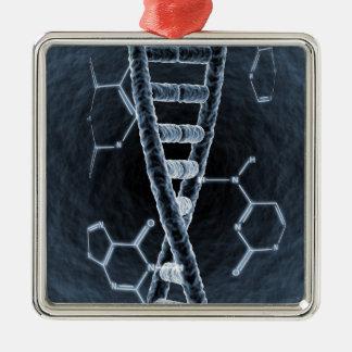 DNA strand Metal Ornament