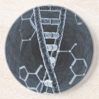 DNA strand Sandstone Coaster