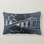 DNA strand Throw Pillow