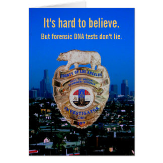 DNA tests don t lie For Father s Day Card