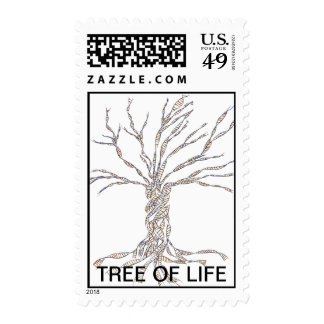DNA TREE or Tree of Life Postage Stamp