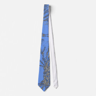 DNA TREE or Tree of Life Stylized Blue Tie