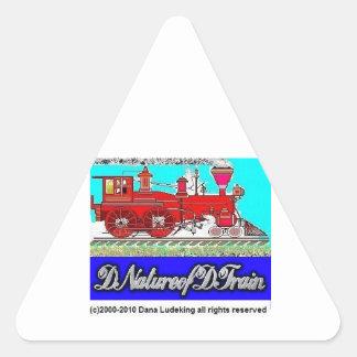 DNatureofDTrain Triangle Sticker
