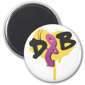 DnB Graffiti Arrow 2 Inch Round Magnet