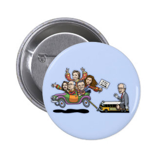 DNC Clown Car Pinback Button