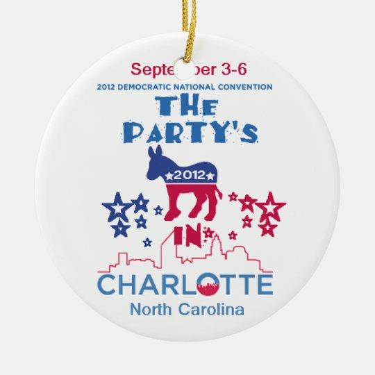 DNC Convention Ceramic Ornament