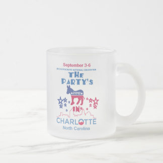 DNC Convention Frosted Glass Coffee Mug