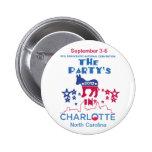 DNC Convention Pinback Button