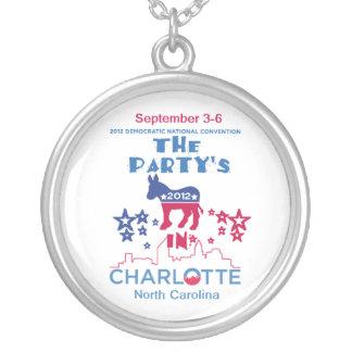 DNC Convention Round Pendant Necklace