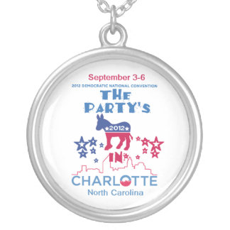 DNC Convention Silver Plated Necklace