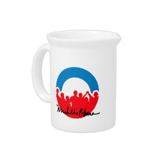 DNC CONVENTION WITH MICHELLE OBAMA AUTOGRAPH.png Beverage Pitcher
