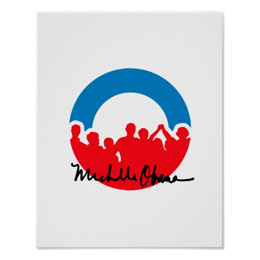 DNC CONVENTION WITH MICHELLE OBAMA AUTOGRAPH.png Print