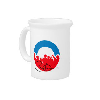 DNC CONVENTION WITH OBAMA AUTOGRAPH.png Beverage Pitchers