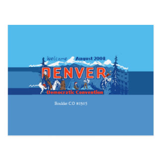 DNC Denver Colorado Postcard