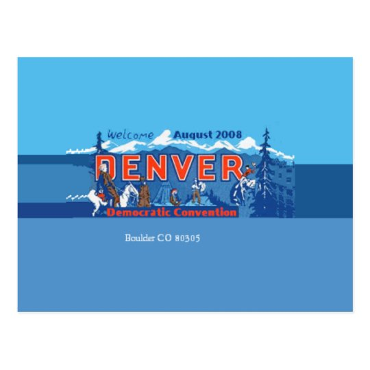 DNC Denver Colorado Postcard