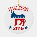 DNC FOR WARREN 2016 -.png Christmas Ornament