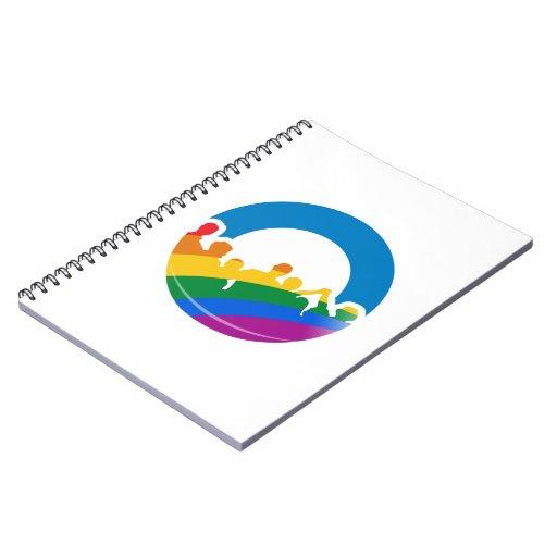 DNC PRIDE 2012 SPIRAL NOTEBOOKS
