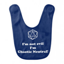 DnD - I'm not evil, I'm chaotic neutral Bib
