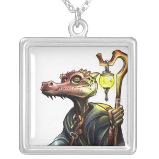 DnD Monsters the Kobold Square Pendant Necklace
