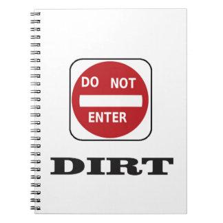 dne dirt notebook