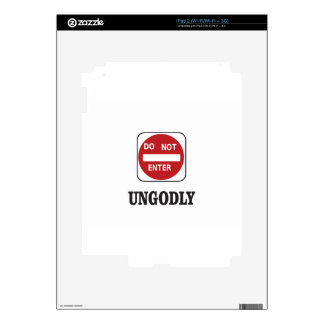 dne ungodly iPad 2 decal