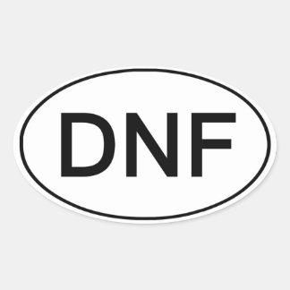 DNF - Did Not Finish Funny Running Sticker