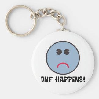 DNF Happens! Basic Round Button Keychain