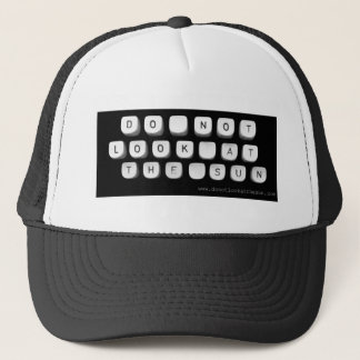 DNLATS typewriter tee Trucker Hat