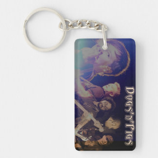 D'n'P Band Rectangle (single-sided) Keychain