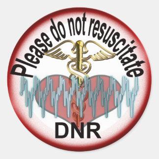 DNR alert Classic Round Sticker
