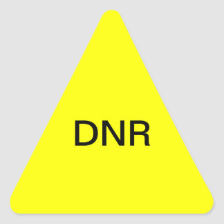 DNR Medical Chart Label