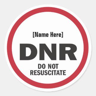 DNR no reaniman al pegatina
