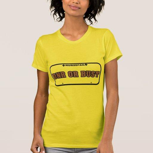DNR or Bust License Plate Shirt