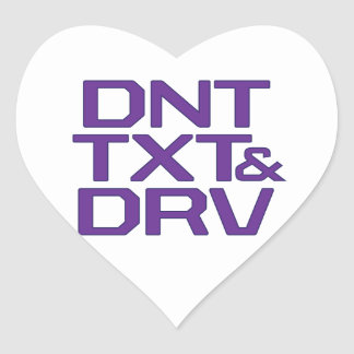 DNT TXT & DRV HEART STICKER