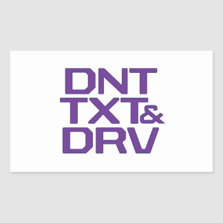 DNT TXT & DRV RECTANGULAR STICKER
