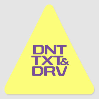 DNT TXT & DRV TRIANGLE STICKER