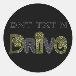 DNT TXT N DRIVE Sticker
