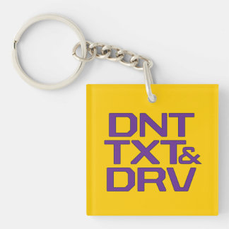 DNT TXT N DRV Double-Sided SQUARE ACRYLIC KEYCHAIN