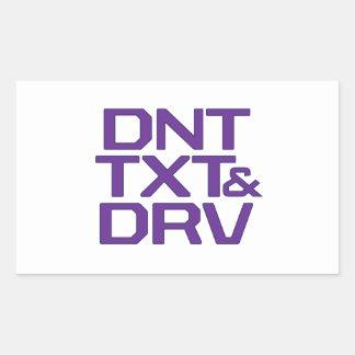 DNT TXT Y DRV RECTANGULAR PEGATINAS