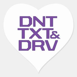 DNT TXT Y DRV CALCOMANIA DE CORAZON