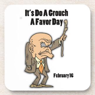 Do a Grouch A Favor Day February 16 Coaster