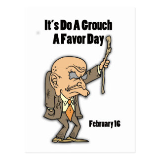 Do a Grouch A Favor Day February 16 Post Card