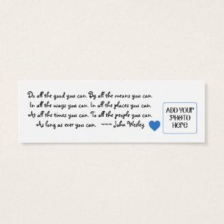 """""""Do All the Good You Can"""" Photo PayItForward Card"""