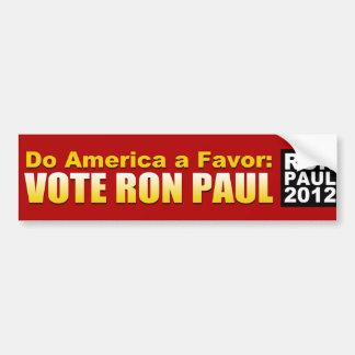 Do America a Favor Car Bumper Sticker
