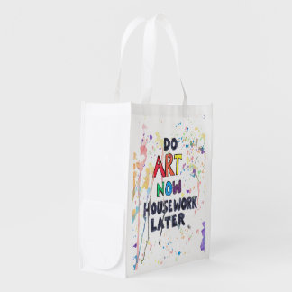 Do Art Now, Housework Later Market Totes