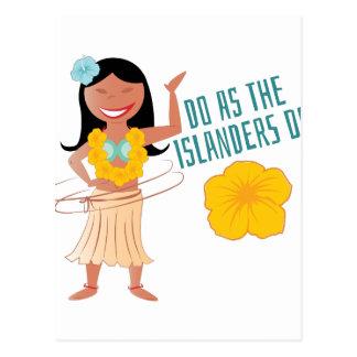 Do As The Islanders Do Postcard
